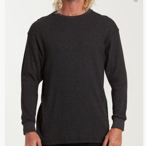 NWT Billabong thermal sweatshirt black size Small